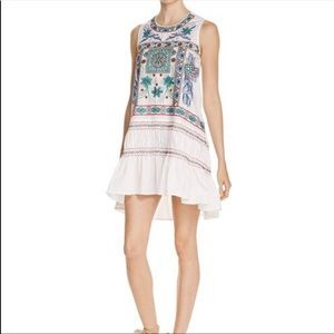 White Embroidered Freeway Dress
